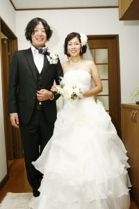 結婚式 二次会 幹事代行 FOR U S夫妻 新郎新婦写真
