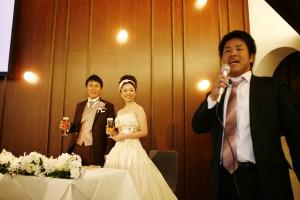 結婚式 二次会 幹事代行 FOR U 三宮 11月27日 森口夫妻 乾杯