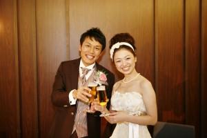 結婚式 二次会 幹事代行 FOR U 三宮 11月27日 森口夫妻 乾杯2