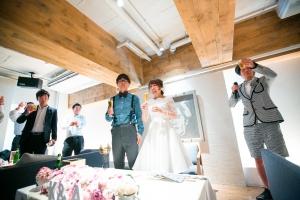 結婚式 二次会 1.5次会 幹事代行 プロデュース 関西 大阪 神戸 京都 奈良 和歌山 FOR U 2015.7.11 カフェガーブ (南船場)