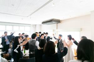 結婚式 二次会 1.5次会 幹事代行 プロデュース アウトドアウエディング 野外ウエディング 関西 大阪 神戸 京都 奈良 和歌山 FOR U 2017.3.25 (マールカフェ)