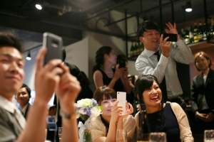 結婚式 二次会 1.5次会 幹事代行  プロデュース アウトドアウエディング  野外ウエディング 関西 大阪  神戸 京都 奈良 和歌山 FOR U 2017.6.24 CAFE CARTA カフェカルタ 三宮