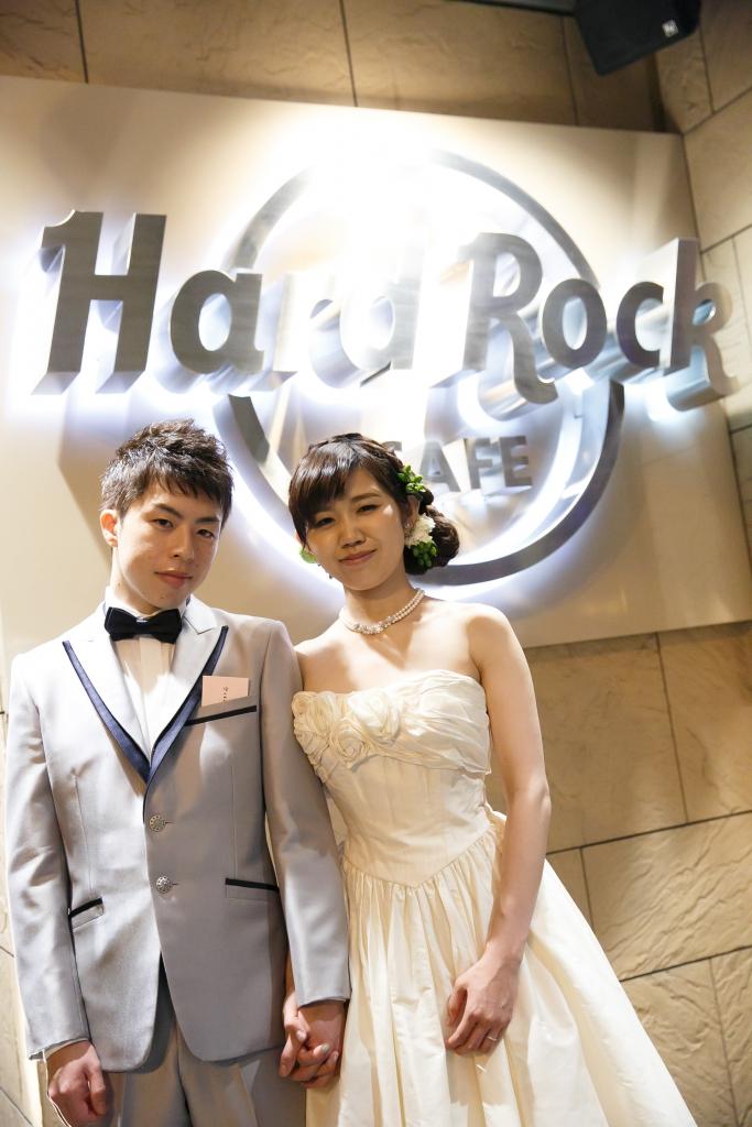 Hard Rock CAFE(本町)でのパーティーレポートS夫妻様