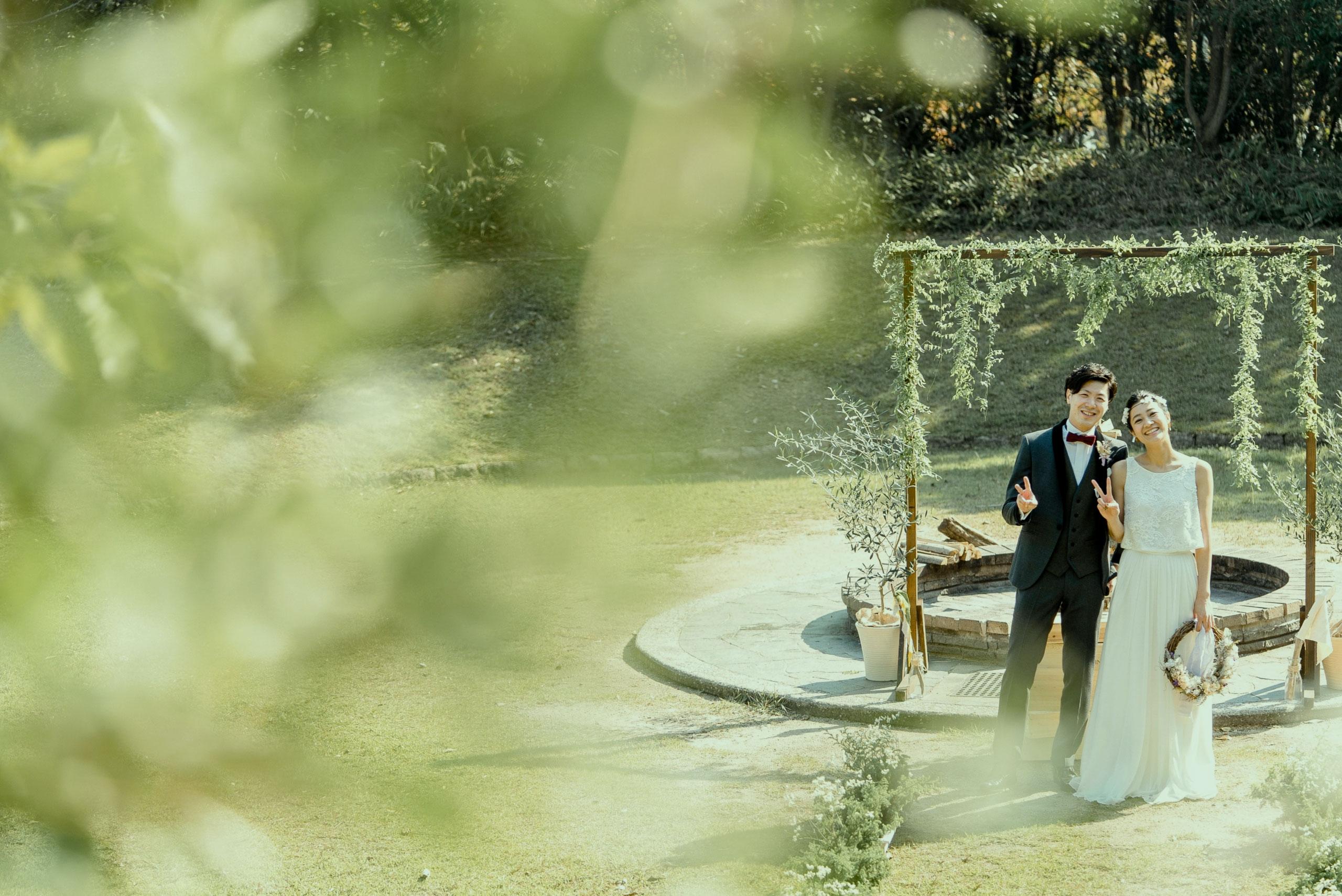 1泊2日の野外結婚式
